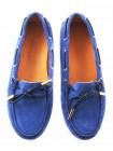 11326 GIANROS (Italy) Мокасины замшевые голубые