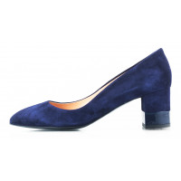 Туфли замшевые VICTIM (Poland ) 11333 темно-синие
