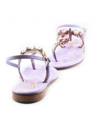 11408 BALDUCCELLI (Italy) Босоножки кожаные светло-фиолетовые