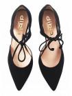 11425 DIBIA (Spain) Туфли открытые замшевые черные