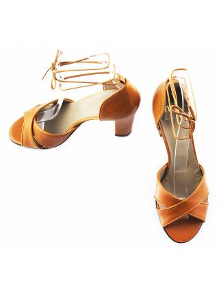 11452 NOE (Italy) Босоножки кожаные светло-коричневые