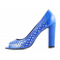 Туфли открытые кожаные NOE (ИТАЛИЯ) 11453 синие