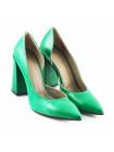 11455 NOE (Italy) Туфли открытые кожаные зеленые