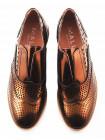 11496 MALLY (Italy) Туфли-оксфорды лаковые золотые сетка полусквозная