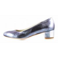 11498 BEFEETGERALD (Italy) Туфли кожаные серебристые