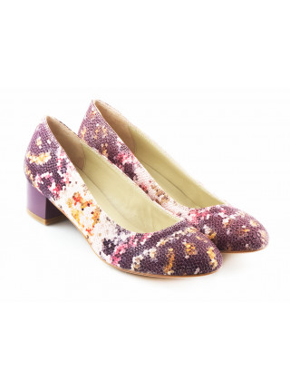 11499 BEFEETGERALD (Italy) Туфли кожаные фиолетово-бело-разноцветные