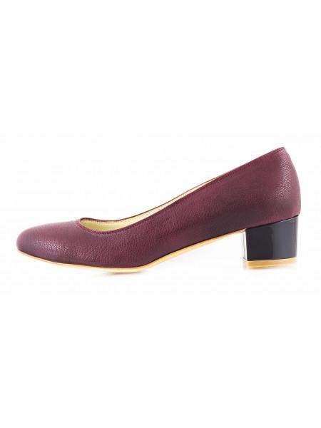 Туфли кожаные BEFEETGERALD (ИТАЛИЯ) 11500 бордовые