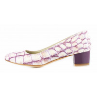 11502 BEFEETGERALD (Italy) Туфли кожаные фиолетово-желтые рептилия