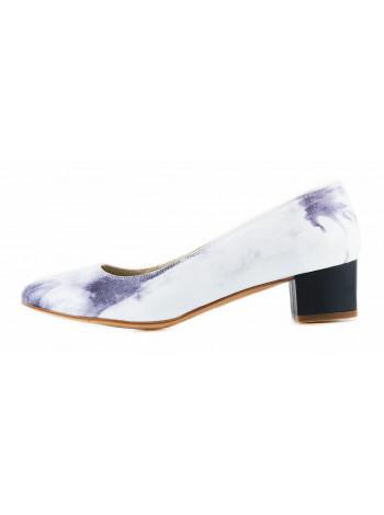11504 BEFEETGERALD (Italy) Туфли лаковые серо-бежевые