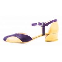 11512 BEFEETGERALD (Italy) Туфли открытые кожаные фиолетово-рыжие
