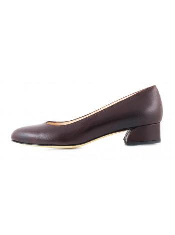 Туфли кожаные BEFEETGERALD (ИТАЛИЯ) 11548 темно-коричневые