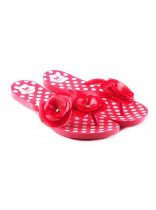 11569 ZAXY (Brazil) Шлепки резиновые красно-белые