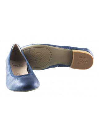 11615 CAPRICE (Germany) Балетки кожаные синие металлик