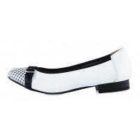 11623 CAPRICE (Germany) Балетки кожаные бело-черные