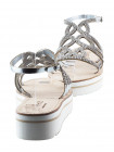 Босоножки кожаные BEFEETGERALD (ИТАЛИЯ) 11637 серебристые