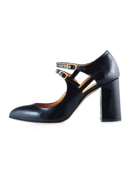 Туфли открытые лаковые BEFEETGERALD (ИТАЛИЯ) 11654 черные