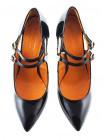11654 BEFEETGERALD (Italy) Туфли открытые лаковые черные