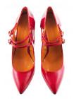 Туфли открытые лаковые BEFEETGERALD (ИТАЛИЯ) 11655 красные