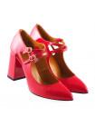 11656 BEFEETGERALD (Italy) Туфли открытые лаковые коралловые