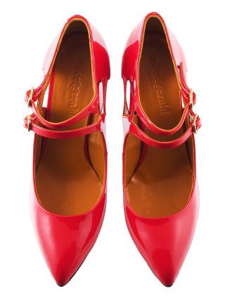 Туфли открытые лаковые BEFEETGERALD (ИТАЛИЯ) 11656 коралловые