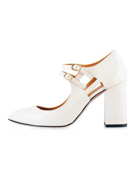 Туфли открытые лаковые BEFEETGERALD (ИТАЛИЯ) 11657 светло-бежевые