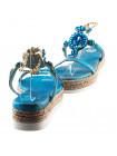 11673 PRODOTTO ITALIANO (Italy) Босоножки замшево-лаковые бежево-голубые