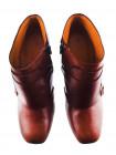 Ботильоны осенние кожаные BEFEETGERALD (ИТАЛИЯ) 11760 рыжие