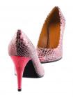 11827 BEFEETGERALD (Italy) Туфли замшево-лаковые светло-розово-бордовые рептилия
