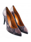 11831 BEFEETGERALD (Italy) Туфли замшево-лаковые коричнево-черные рептилия