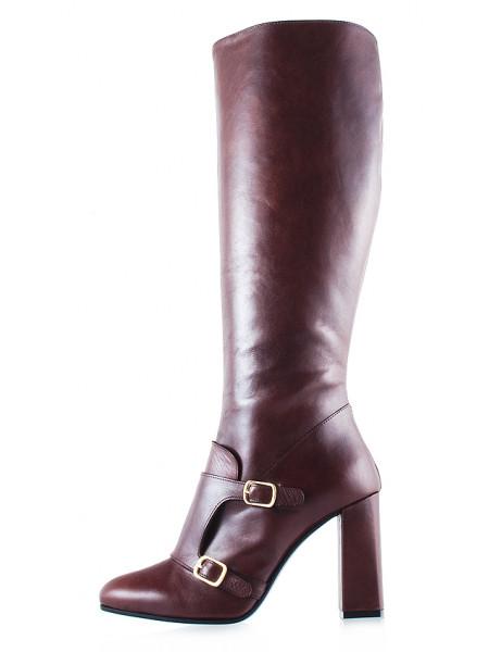 11841 BEFEETGERALD (Italy) Сапоги осенние кожаные коричневые