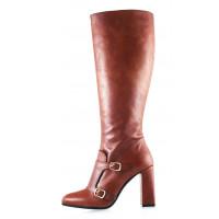 11843 BEFEETGERALD (Italy) Сапоги осенние кожаные рыжие