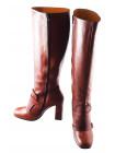 Сапоги осенние кожаные BEFEETGERALD (Italy) 11843 рыжие
