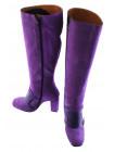 11847 BEFEETGERALD (Italy) Сапоги осенние замшево-кожаные светло-фиолетовые