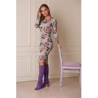Сапоги осенние замшево-кожаные BEFEETGERALD (ИТАЛИЯ) 11848 светло-фиолетовые