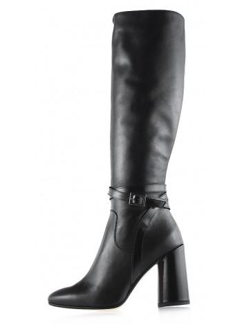 Сапоги осенние кожаные BEFEETGERALD (ИТАЛИЯ) 11852 черные