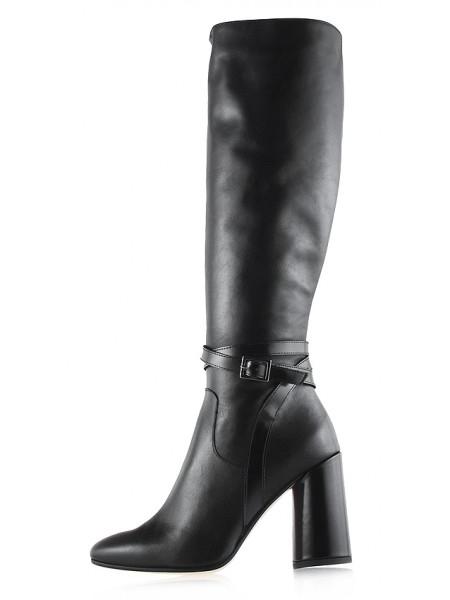 11852 BEFEETGERALD (Italy) Сапоги осенние кожаные черные