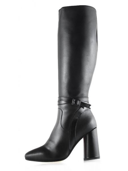 11853 BEFEETGERALD (Italy) Сапоги еврозима кожаные черные