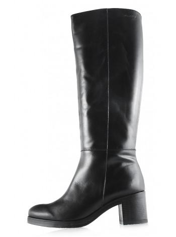 Сапоги осенние кожаные WONDERS (ИСПАНИЯ) 11908 черные