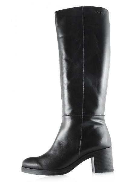 11908 WONDERS (Spain) Сапоги осенние кожаные черные