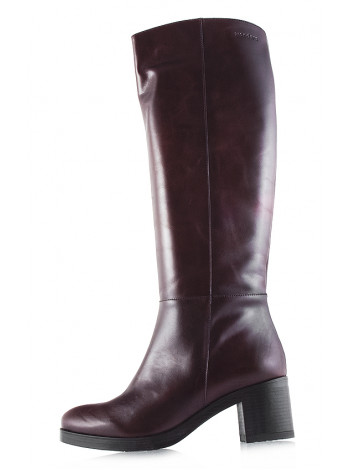 Сапоги осенние кожаные WONDERS (ИСПАНИЯ) 11909 темно-коричневые