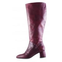 11933 BEFEETGERALD (Italy) Сапоги осенние кожаные бордовые