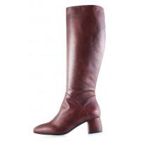 Сапоги осенние кожаные BEFEETGERALD (Italy) 11934 коричневые