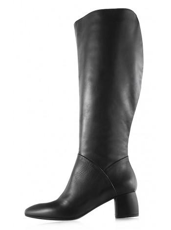 Сапоги осенние кожаные BEFEETGERALD (ИТАЛИЯ) 11935 черные