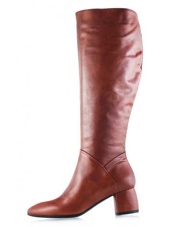 11936 BEFEETGERALD (Italy) Сапоги осенние кожаные рыжие