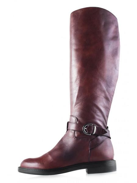11941 BEFEETGERALD (Italy) Сапоги еврозима кожаные коричневые