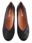 Туфли нубуковые под рептилию CAPRICE (Germany) 11956 черные