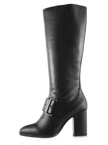 11957 CAPRICE (Germany) Сапоги осенние кожаные черные