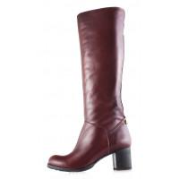 11981 BONTY (Poland) Сапоги осенние кожаные коричневые