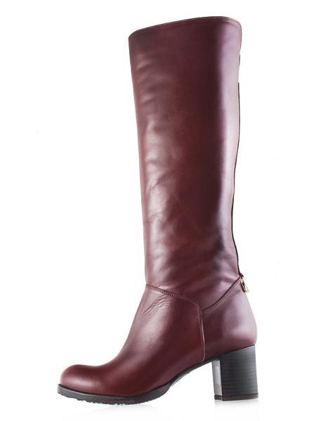 Сапоги осенние кожаные BONTY (Poland) 11981 коричневые