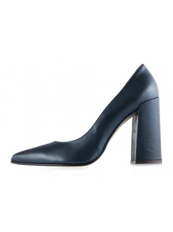 Туфли открытые кожаные NOE (ИТАЛИЯ) 11986 темно-зеленые